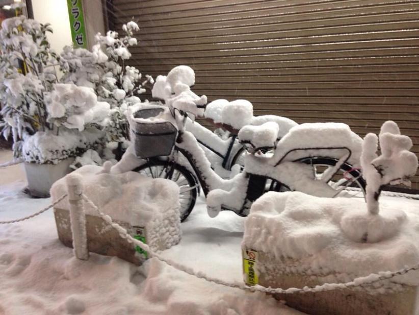 Tokyo sotto la neve