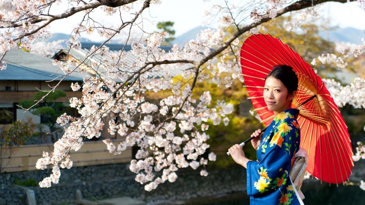 kimono e ombrello