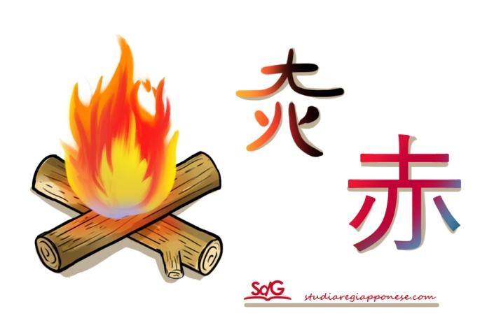 etimologia aka rosso fuoco