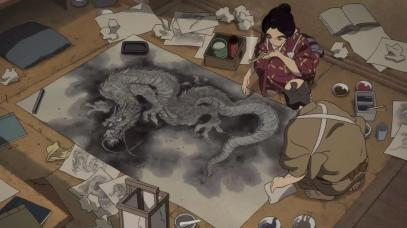 hokusai miss figlia anime sarusuberi (1)