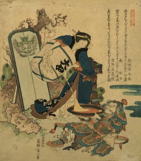 hokusai miss figlia anime sarusuberi (11)